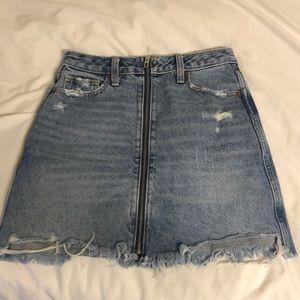 Abercrombie Zip Up Jean Skirt